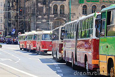 130th anniversary of public transport in Poland Editorial Photo