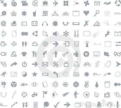132 Icons for web application