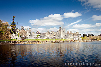 The 13th Century Ashford Castle in Cong - Ireland.