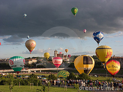 13th European Hot Air Balloon Championship Editorial Photo