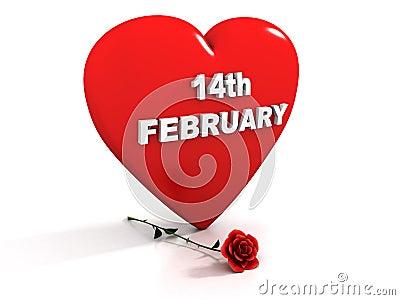 14 Februari - Rood hart en nam toe