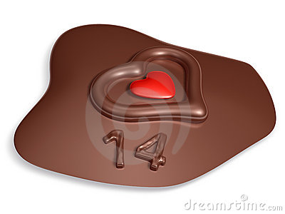 14 typography and heart on meltting chocolate