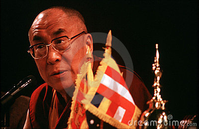 14th Dalai Lama of Tibet Editorial Image