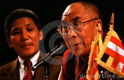 14th Dalai Lama of Tibet Editorial Stock Photo