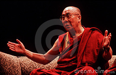 14th Dalai Lama of Tibet Editorial Image