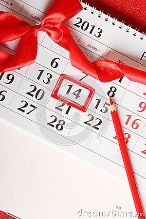 14th of February calendar
