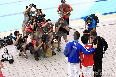 14th fina world championships - shanghai 2011 Editorial Stock Image