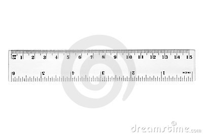 A 15 cm ruler.