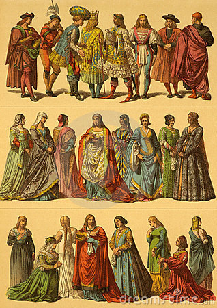 15. Jahrhundert-Italiener-Kostüme Redaktionelles Bild
