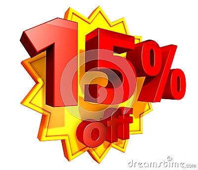 15 percent off coupon