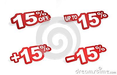 15 percent promotion