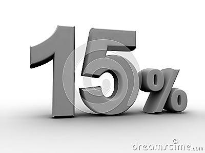 15 pour cent