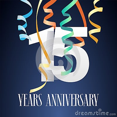Free 15 Years Anniversary Celebration Vector Icon, Logo Royalty Free Stock Image - 104006226