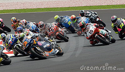 150cc riders at 2007 Polini Malaysian Motorcycle G Editorial Image