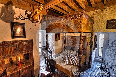 15th century Bunratty castle interior Editorial Stock Photo