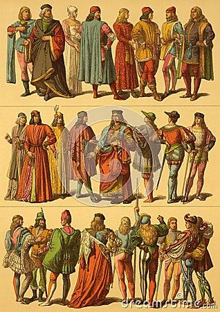 15th Century Italian Costumes Editorial Photography