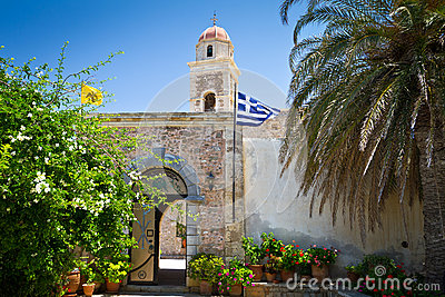 15th century monastery Moni Toplou on Crete