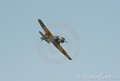 AT-16 Harward II in flight Editorial Stock Photo