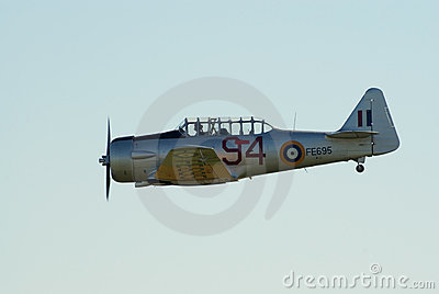 AT-16 Harward II in flight Editorial Image