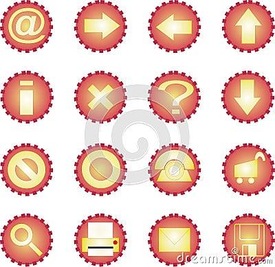 16 icon set - Sunny