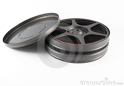 16 mm film canisters and reel