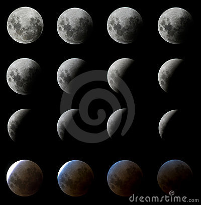 16 Moon Eclipse shots
