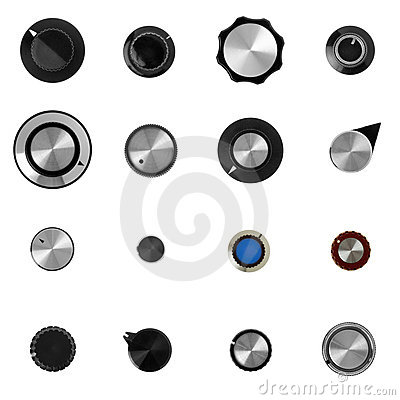 16 retro electronic control knobs