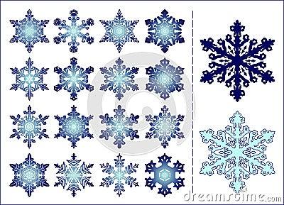 16 snowflakes