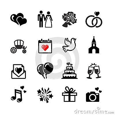 Free 16 Web Icons Set. Wedding, Love, Celebration. Stock Photo - 33783110