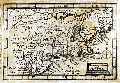 1635 Antique John Speed Map Colonial New England