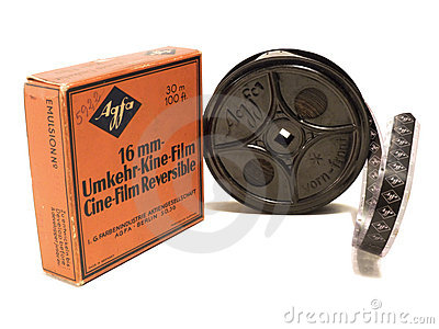 16mm Afga film and reel EDITORIAL USE ONLY Editorial Photo