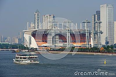 16th Asian Games - Haixinsha Square of Guangzhou Editorial Photography