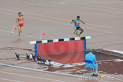 16th Asian Games - Women s 3,000m Steeplechase Editorial Photography