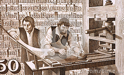 16th Century Printers at Work Editorial Photo