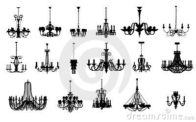 17 different shapes of chandelier