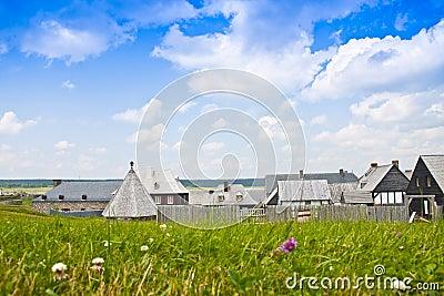17. Jahrhundert-Dorf
