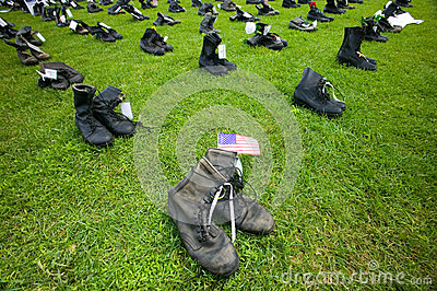 1746 Military boots Editorial Stock Image