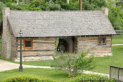 1770 Log Cabin Stock Images - Image: 1061684