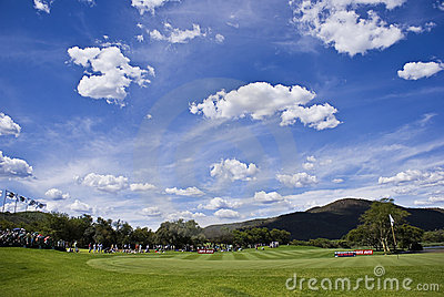 17th Green Editorial Stock Image