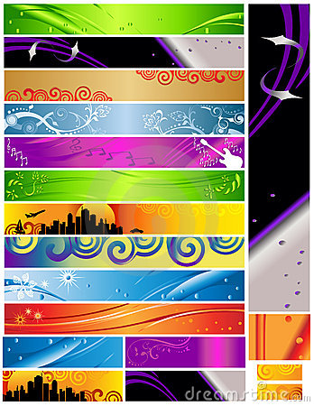 18 Banners multi themes and colors 468x60