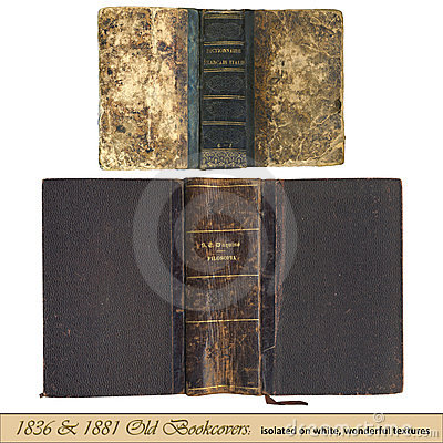 1836 & 1881 old bookcovers