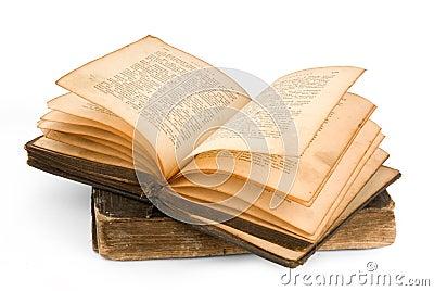 Sehr sehr sehr alt russische bibel getrennt auf weiß