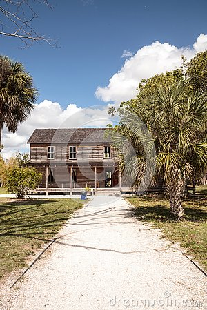 Free 1896 Founders House At Historic Koreshan State Park Stock Images - 141708164