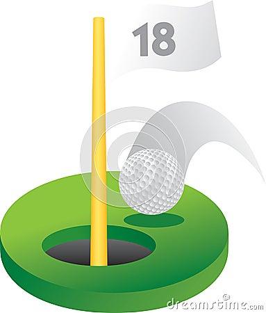 18th golf hole