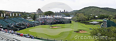 18th Hole - Elevated Panoramic View Editorial Image