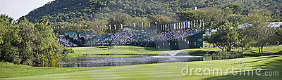 18th Hole - Panoramic View Editorial Photo