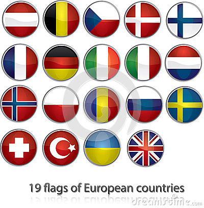 19 flags of european countries