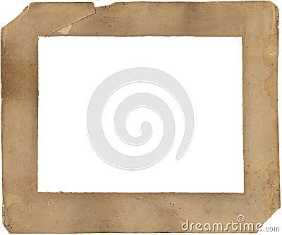 19. Jahrhundertpapierfeld - verschlechtert und befleckt