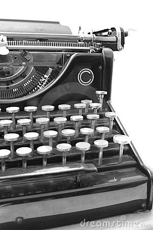 A 1900 s typewriter - Detail