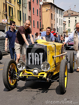1926 built yellow FIAT 509 sport Monza Editorial Stock Image